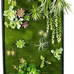 Vertikaler wandgarten knut mit deko pflanzen for Pflanzen deko wand